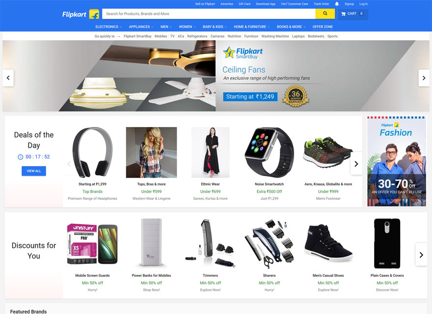Flipkart Website Screenshot