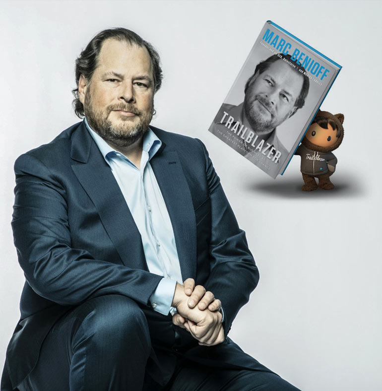 Marc Benioff CEO - Trailblazer book with raving reviews