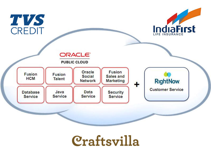 Oracle RIghtNow CX, TVS Credit, India First, Craftsvilla